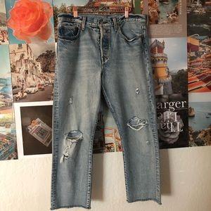 Levis 501 Wedgie fit jeans